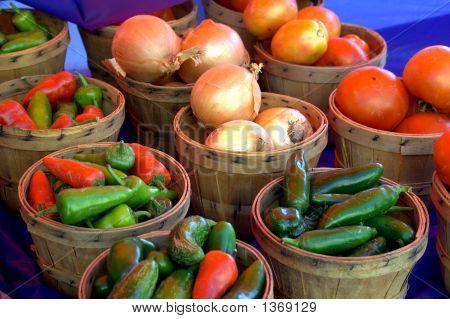 Baskets Of Vegetables