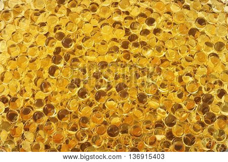 Yellow cod-liver oil. Closeup 3D Rendering. Close up.