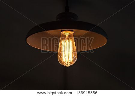 Retro Tungsten Lamp In The Round Lampshade