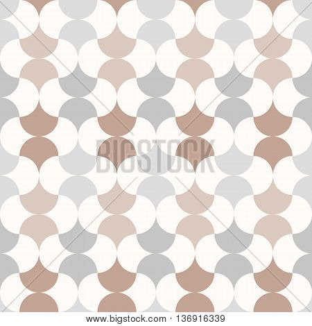 Seamless anthracite retro style pattern, white grey brown color