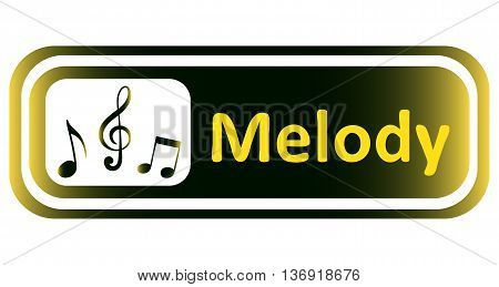 Long icon with a yellow gradient and the inscription melody