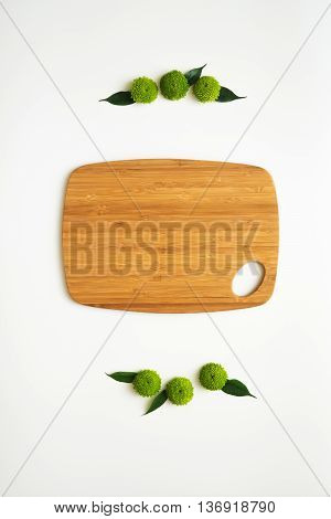 Wooden Cutting Board With Decoration.