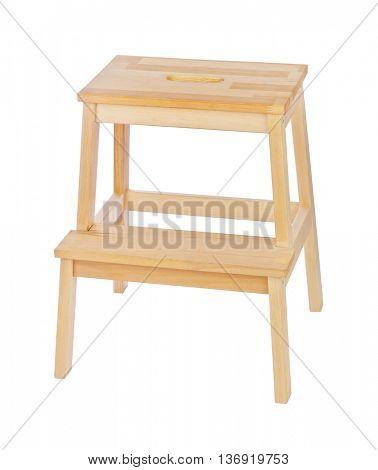 Wood ladder isolated on white background