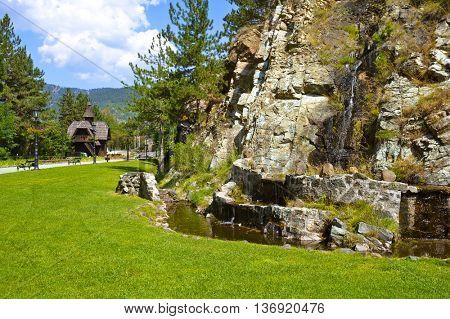 Journey in Sarganska Osmica (Shargan eight) - Serbia - travel background