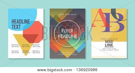 Choice of three brochure fliers layout template design