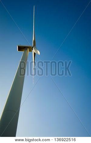 Windmill for electric power production. Producing alternative energy.