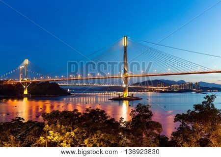 Cable stayed bridge in Hong Kong