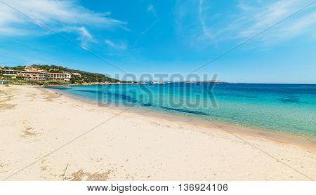 cala battistoni on a clear day in Costa Smeralda Italy
