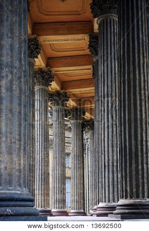 Colonnade of the Kazan Cathedral in St. Petersburg