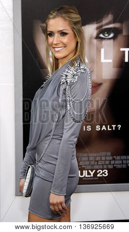 Kristin Cavallari at the Los Angeles premiere of 'Salt' held at the Grauman's Chinese Theater in Los Angeles, USA on July 19, 2010.