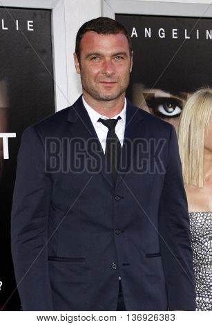 Liev Schreiber at the Los Angeles premiere of 'Salt' held at the Grauman's Chinese Theater in Los Angeles, USA on July 19, 2010.