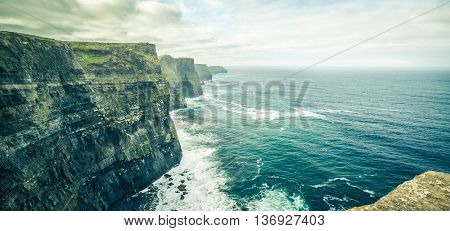 Famous Cliffs Of Moher, West Coast Of Ireland
