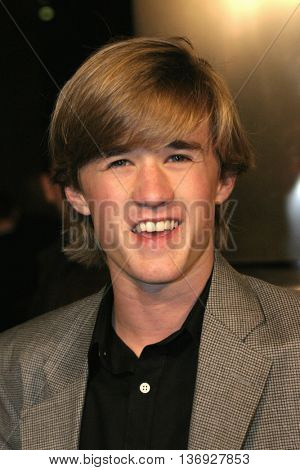 Haley Joel Osment at the AFI Fest premiere of' 'Beyond the Sea' at the ArcLight Cinemas in Hollywood, USA on November 4, 2004.