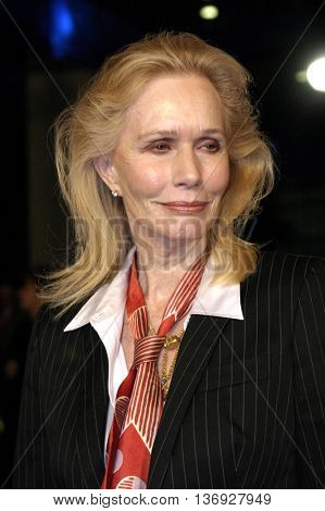 Sally Kellerman at the AFI Fest premiere of' 'Beyond the Sea' at the ArcLight Cinemas in Hollywood, USA on November 4, 2004.