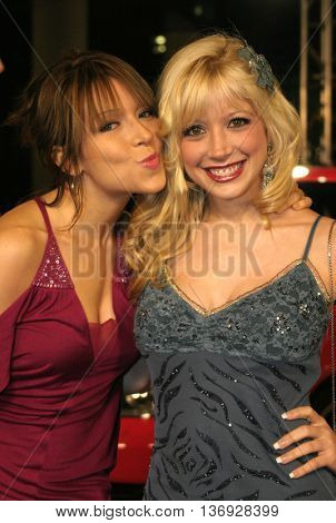 Ashley Peldon and Courtney Peldon at the AFI Fest premiere of' 'Beyond the Sea' at the ArcLight Cinemas in Hollywood, USA on November 4, 2004.