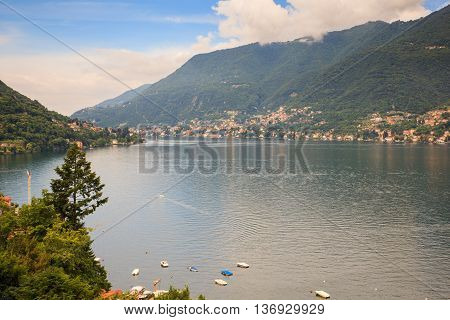 View of Lake Como from Bellagio in Italy