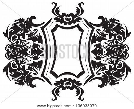 Baroque Ornament Decor element. Vector decor frame