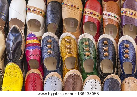 Colourful Moroccan Slippers, Marrakesh