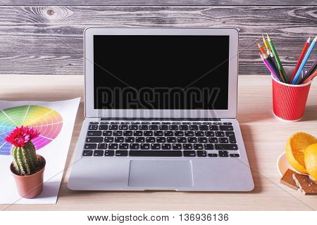 Blank Laptop Closeup