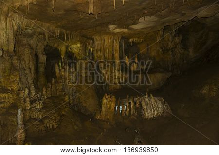 Prometheus Cave stalactites stalagmites inside Georgia old