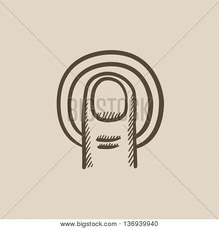 Double tap touch screen gesture vector sketch icon isolated on background. Hand drawn Double tap touch screen gesture icon. Double tap touch screen gesture sketch icon for infographic, website or app.