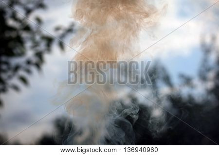 Background of smoke with a sharp focus