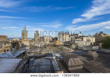 Fez general view Morocco, popular city in Morocco