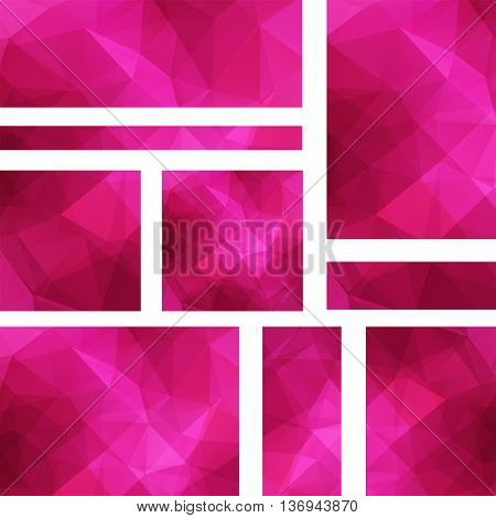 Set Of Banner Templates With Abstract Background. Modern Vector Banners With Polygonal Background. P