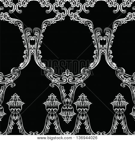 Rococo frame decor pattern. Vector French Luxury rich carved ornaments and Wall Frames. Victorian Royal Style frame