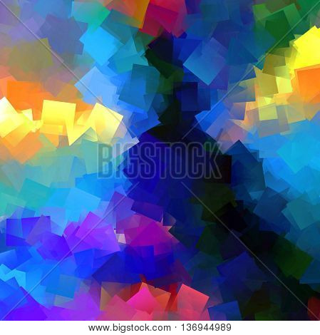 Abstract red coloring background of the fire blueish gradient with visual wave and cubism effects,good for your design