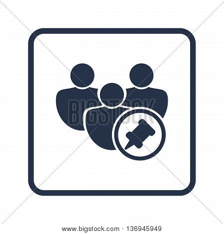 User Pin Icon In Vector Format. Premium Quality User Pin Symbol. Web Graphic User Pin Sign On Blue R
