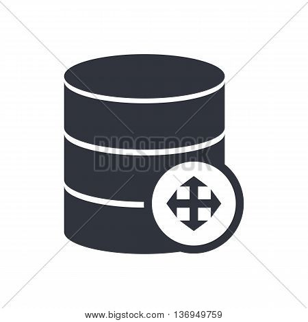 Database Arrows Icon In Vector Format. Premium Quality Database Arrows Symbol. Web Graphic Database