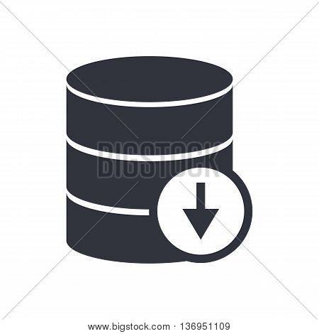 Database Down Icon In Vector Format. Premium Quality Database Down Symbol. Web Graphic Database Down