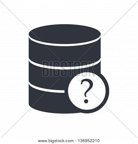 Database Help Icon In Vector Format. Premium Quality Database Help Symbol. Web Graphic Database Help