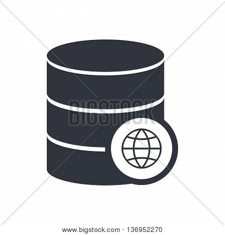 Database Internet Icon In Vector Format. Premium Quality Database Internet Symbol. Web Graphic Datab