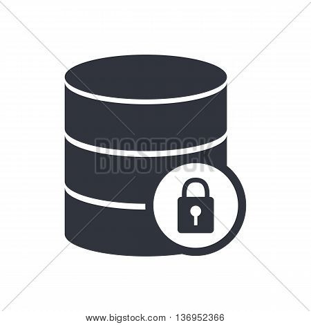 Database Lock Icon In Vector Format. Premium Quality Database Lock Symbol. Web Graphic Database Lock