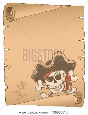 Parchment with pirate thematics 2 - eps10 vector illustration.