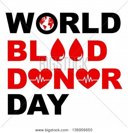 World blood donor day typography graphic design