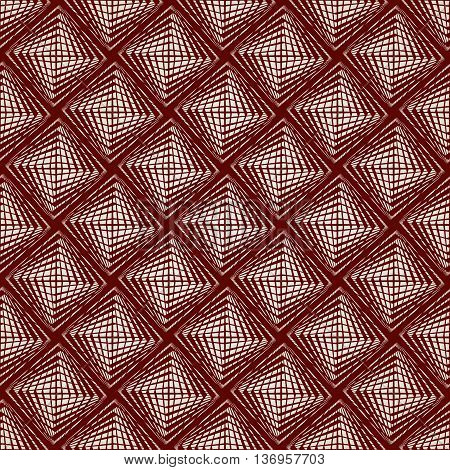 Seamless abstract pattern of straight lines in brown