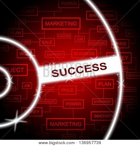 Success Word Indicates Progress Victor And Prevail