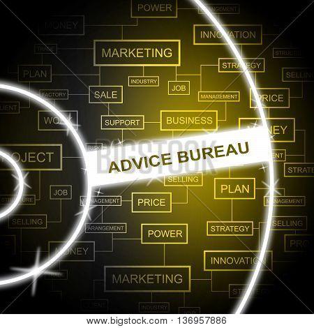 Advice Bureau Represents Answers Agency And Faq