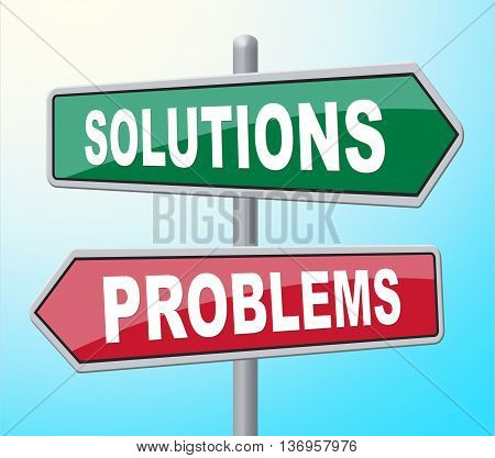 Solutions Problems Means Difficult Situation And Achievement