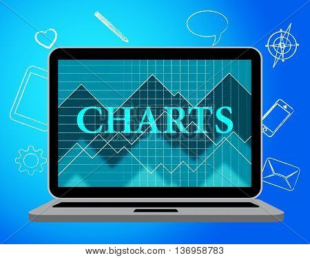 Charts Online Means Business Graph And Computer