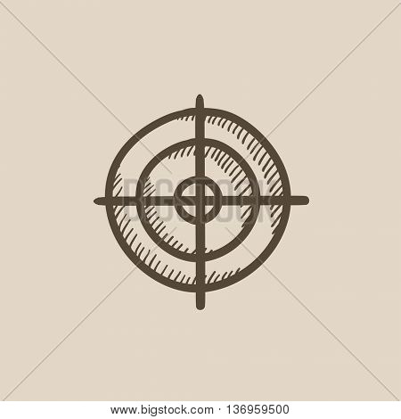 Shooting target vector sketch icon isolated on background. Hand drawn Shooting target icon. Shooting target sketch icon for infographic, website or app.