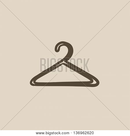 Hanger vector sketch icon isolated on background. Hand drawn Hanger icon. Hanger sketch icon for infographic, website or app.