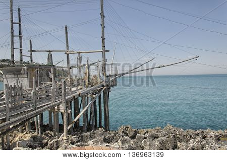 A old trabucco a typical construction for fishing