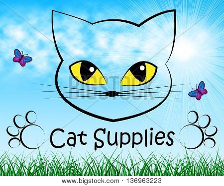 Cat Supplies Means Pedigree Cats And Goods