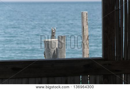 Window on the sea of a fisherman's house