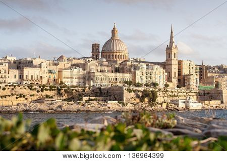 View from Tigne Point across the harbour to Valletta