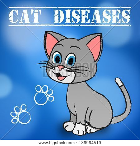 Cat Diseases Indicates Felines And Puss Illness